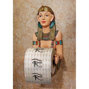 Egyptian wall toilet paper holder